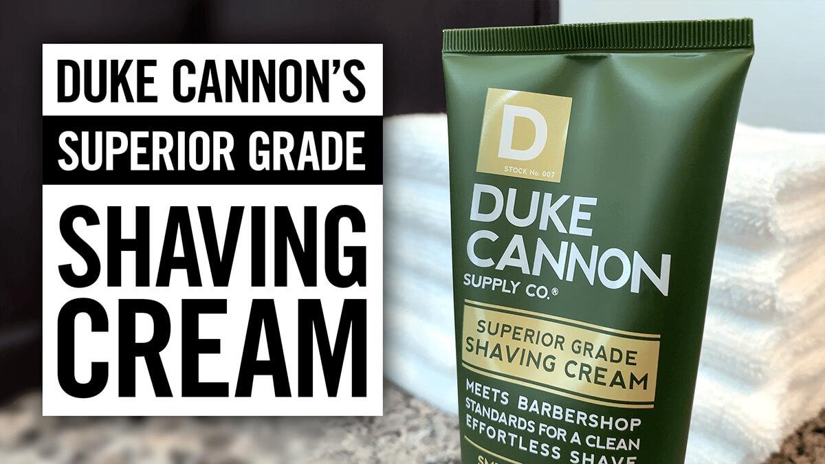 Duke Cannon: Superior Grade Shaving Cream